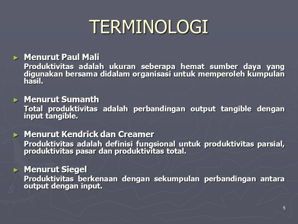 TERMINOLOGI Menurut Paul Mali Menurut Sumanth