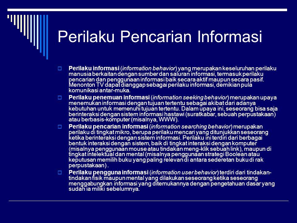 Perilaku Pencarian Informasi