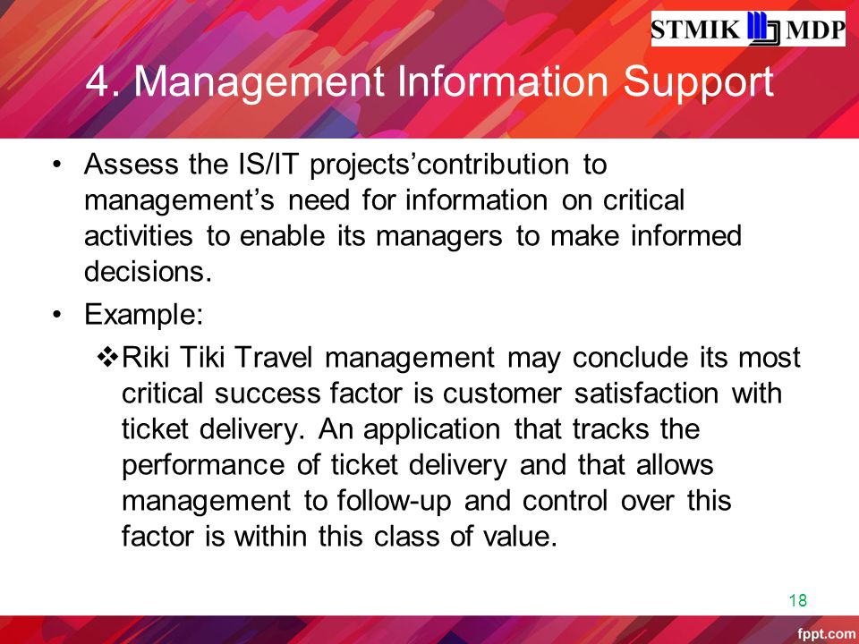4. Management Information Support