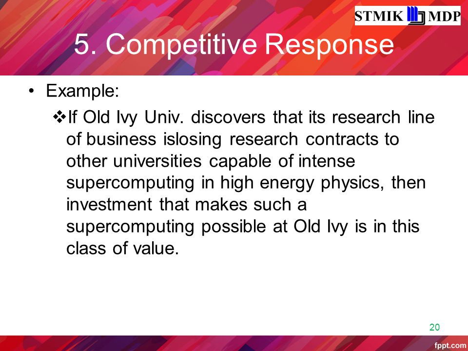 5. Competitive Response Example: