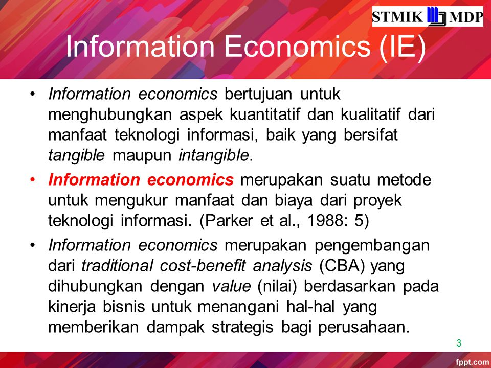 Information Economics (IE)
