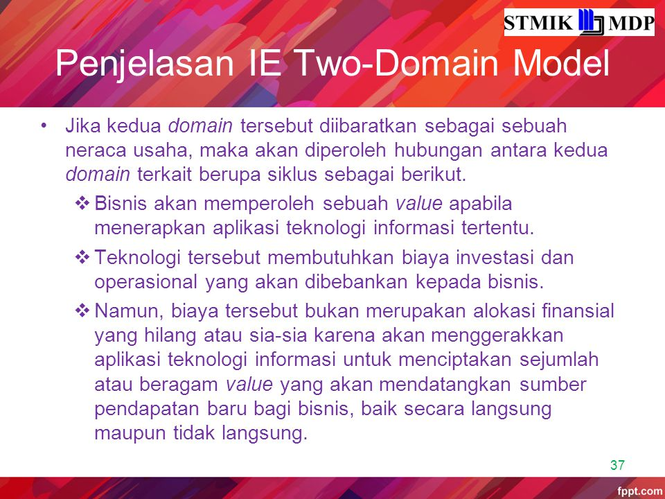 Penjelasan IE Two-Domain Model