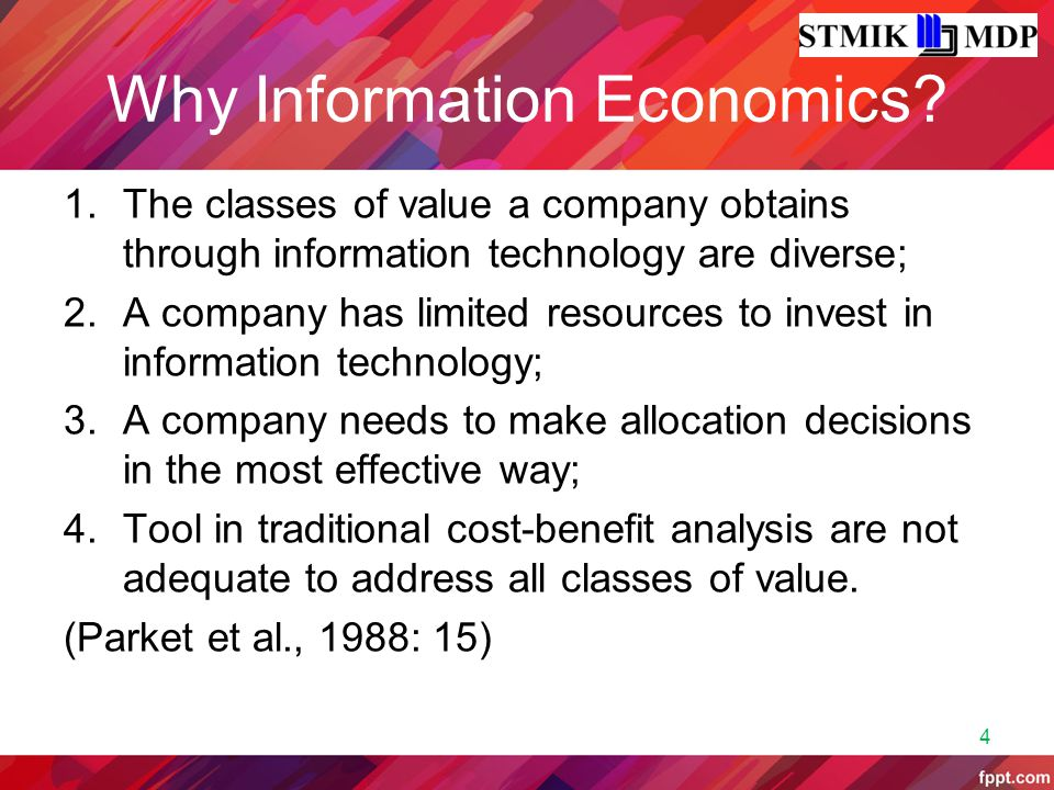 Why Information Economics