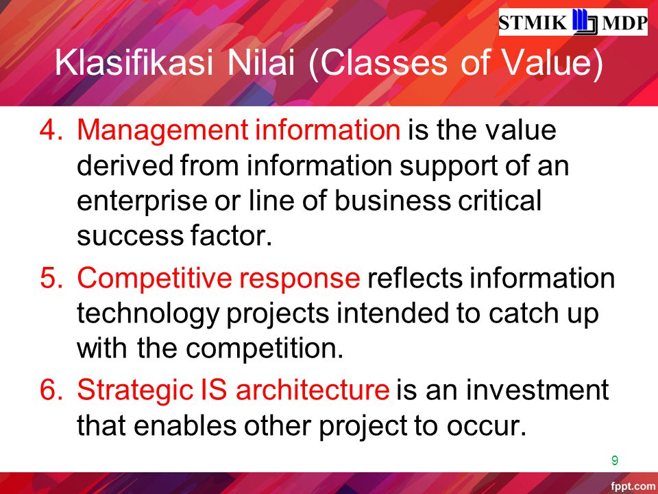 Klasifikasi Nilai (Classes of Value)