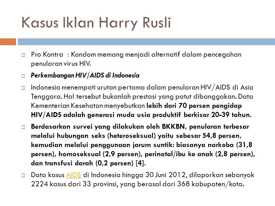 Kasus Iklan Harry Rusli