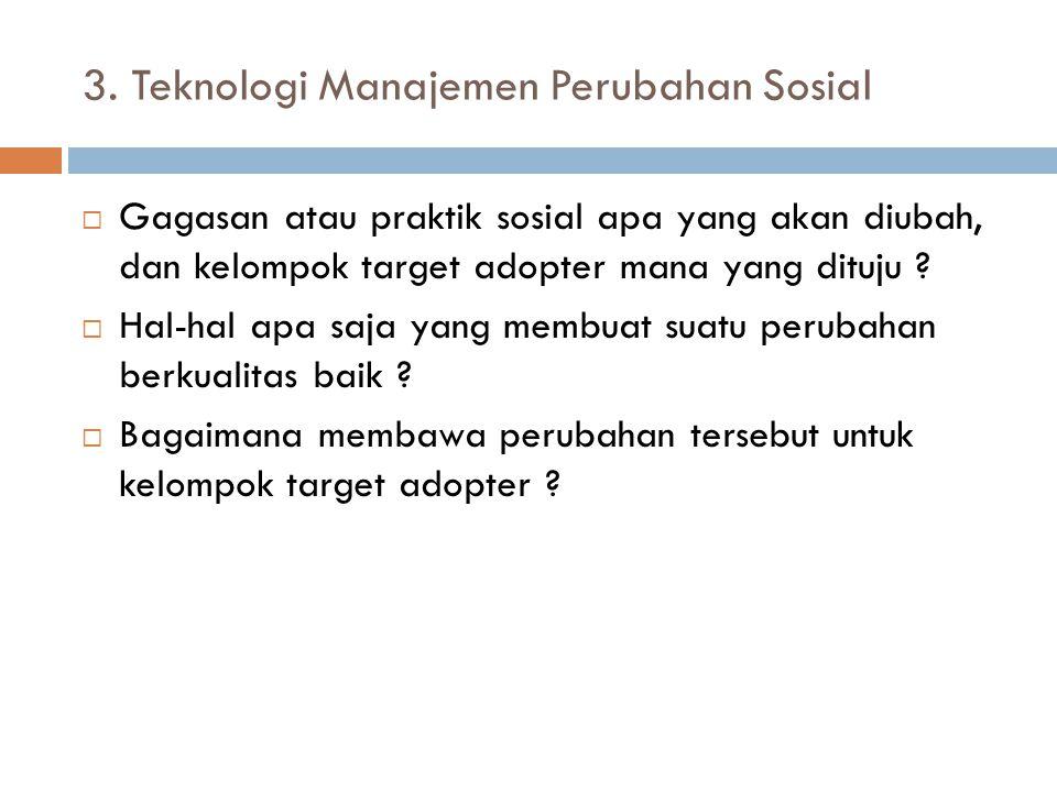 3. Teknologi Manajemen Perubahan Sosial