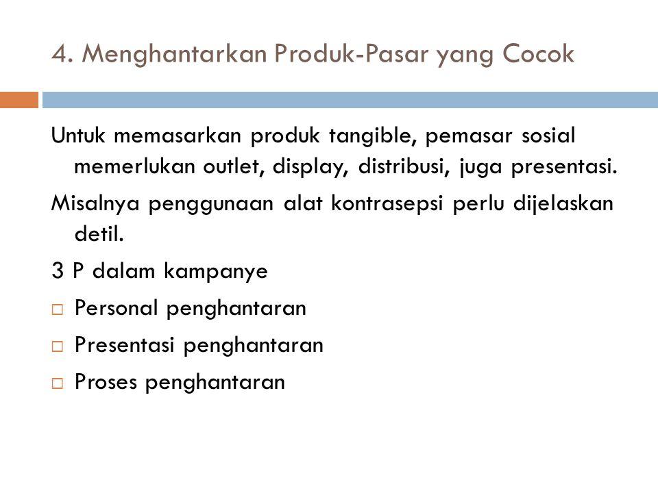 4. Menghantarkan Produk-Pasar yang Cocok