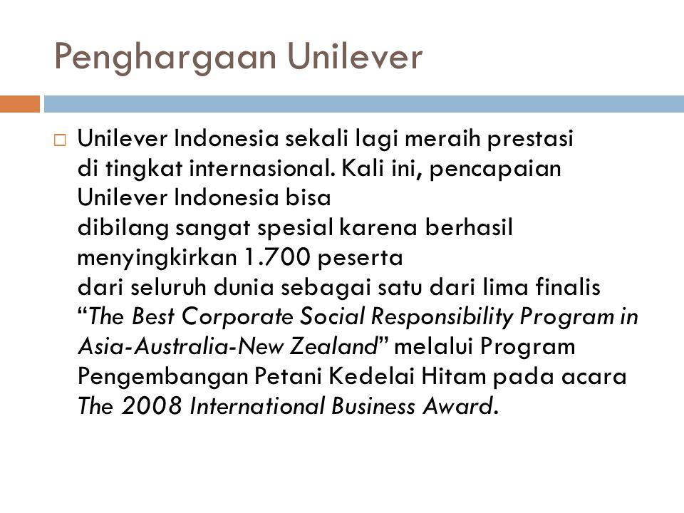 Penghargaan Unilever