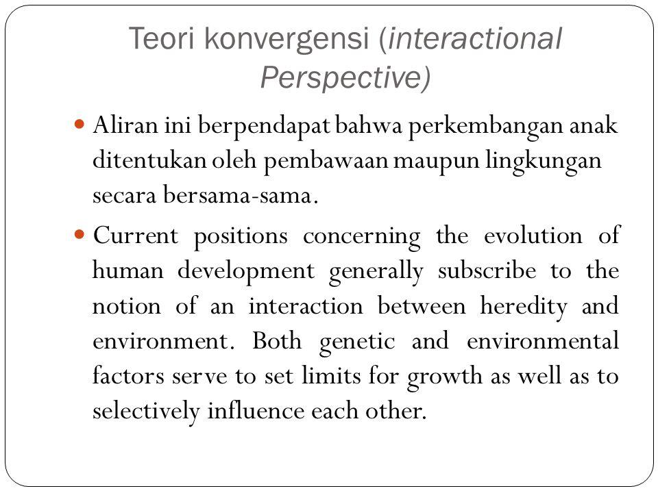 Teori konvergensi (interactional Perspective)