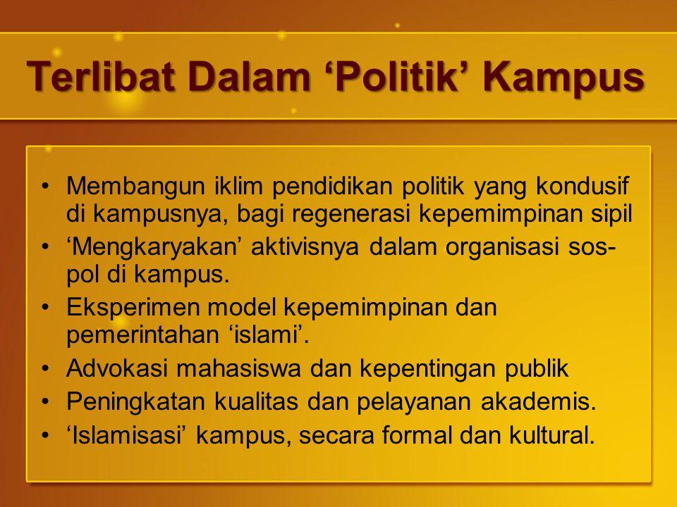 Terlibat Dalam 'Politik' Kampus