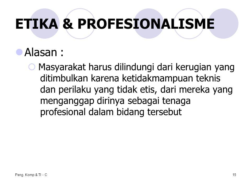 ETIKA & PROFESIONALISME