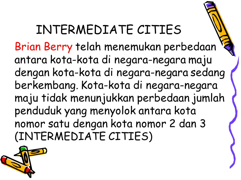 INTERMEDIATE CITIES