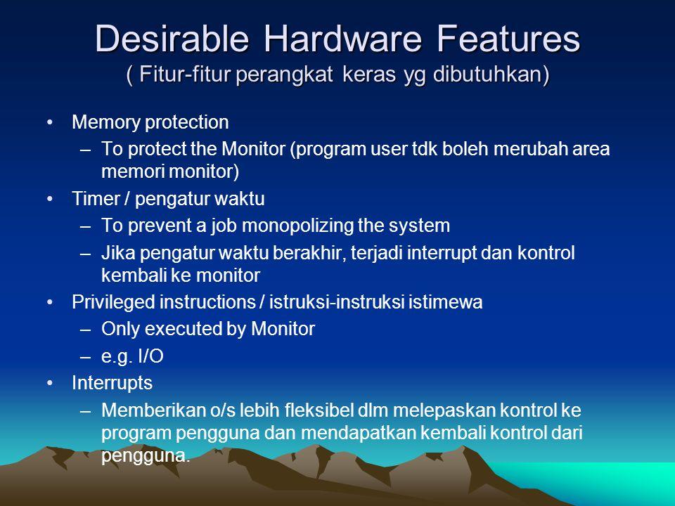 Desirable Hardware Features ( Fitur-fitur perangkat keras yg dibutuhkan)