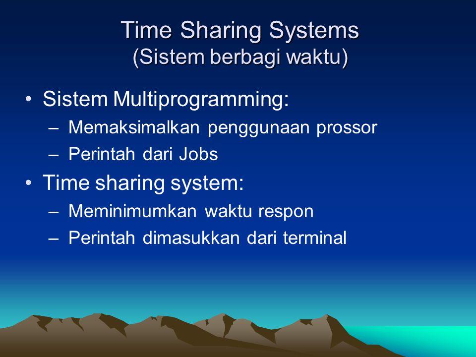 Time Sharing Systems (Sistem berbagi waktu)