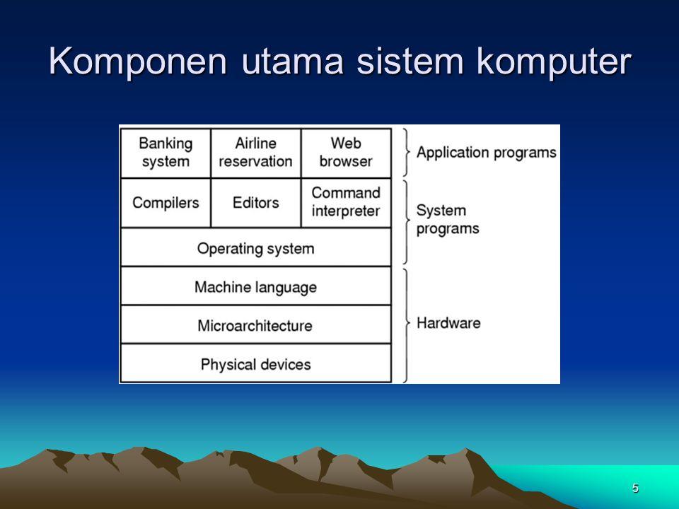 Komponen utama sistem komputer