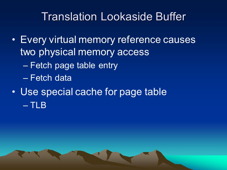 Translation Lookaside Buffer