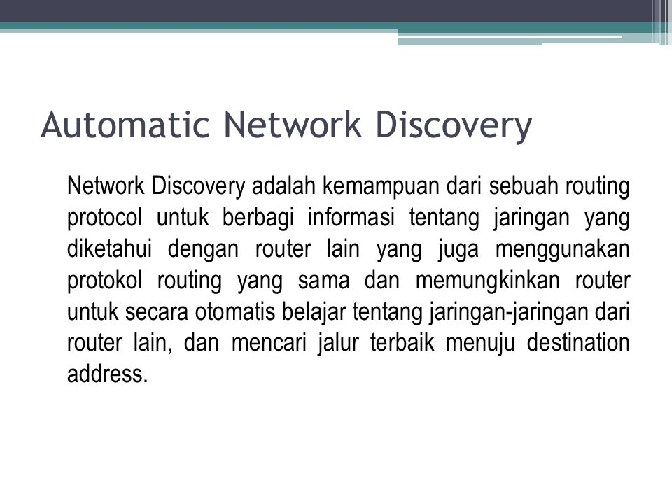 Automatic Network Discovery