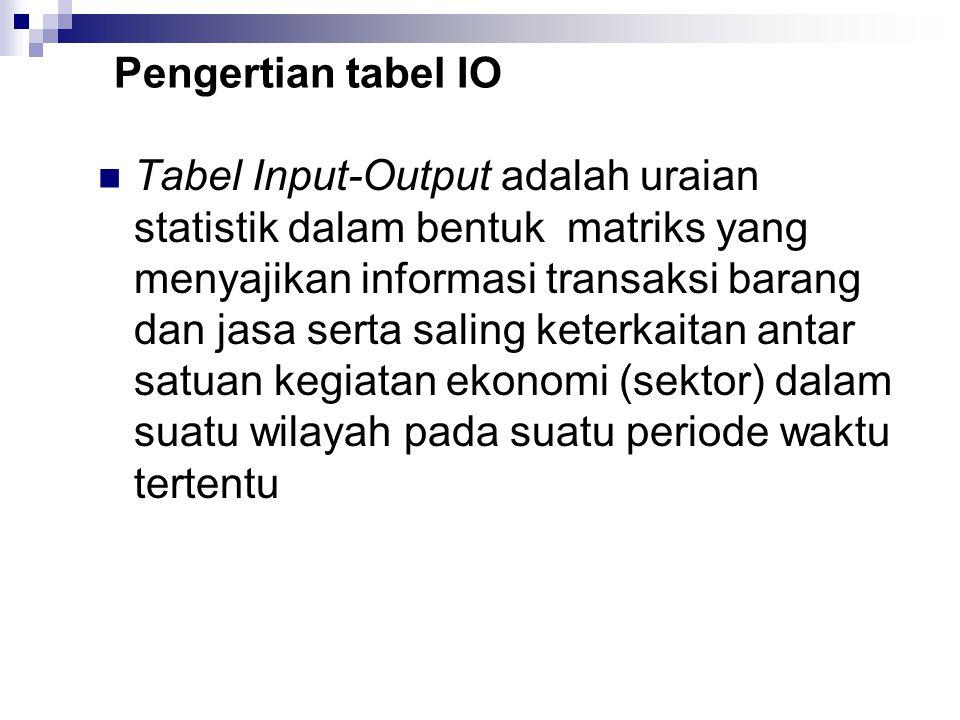 Pengertian tabel IO