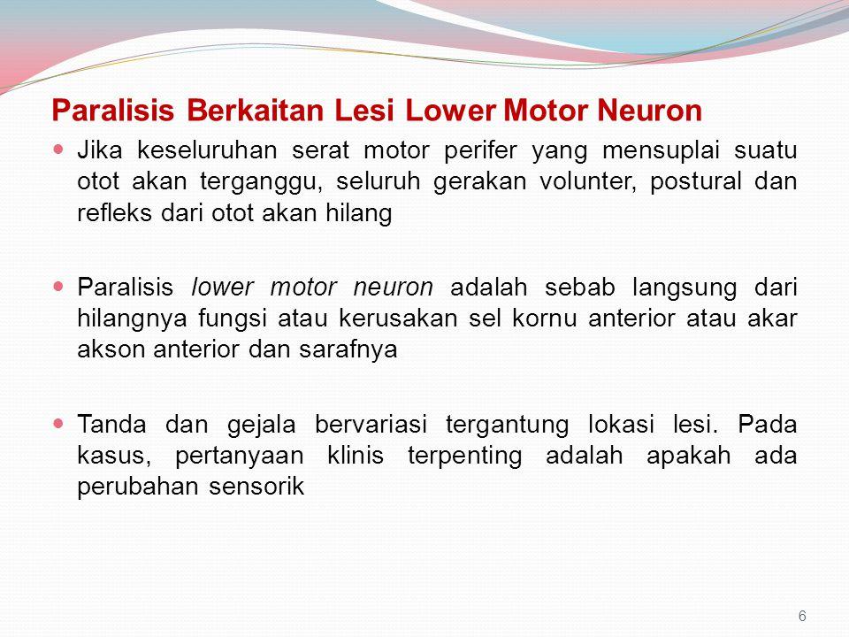 Paralisis Berkaitan Lesi Lower Motor Neuron