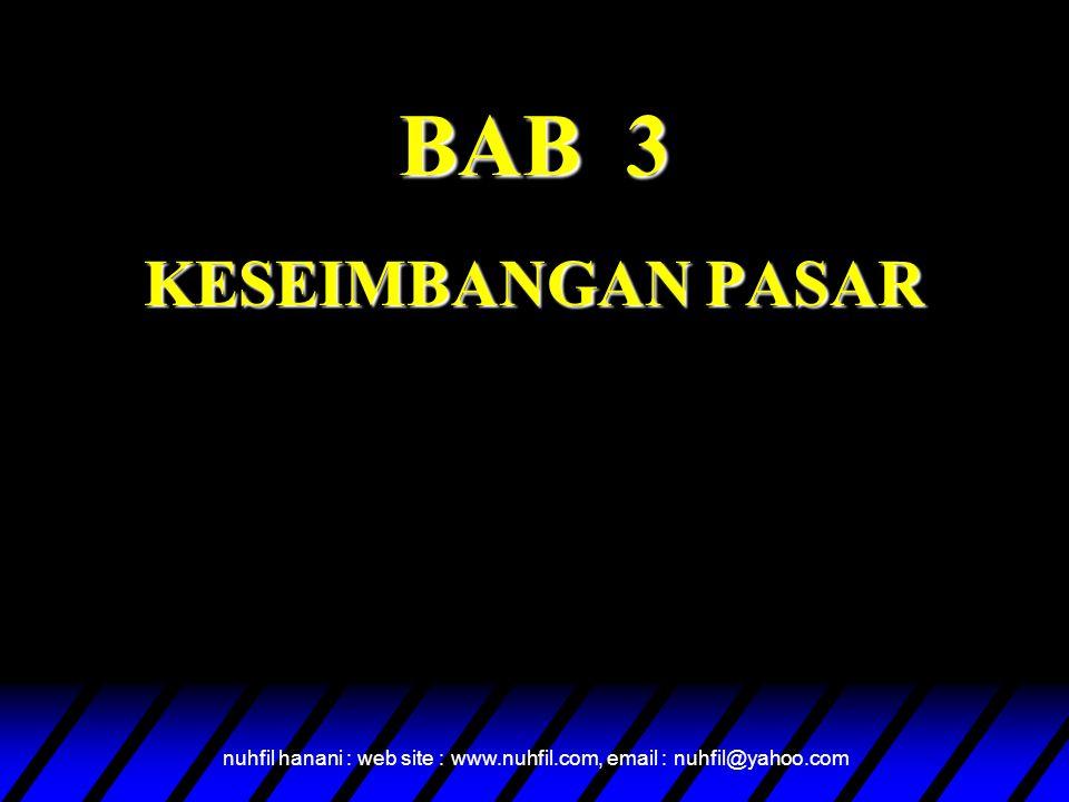 BAB 3 KESEIMBANGAN PASAR