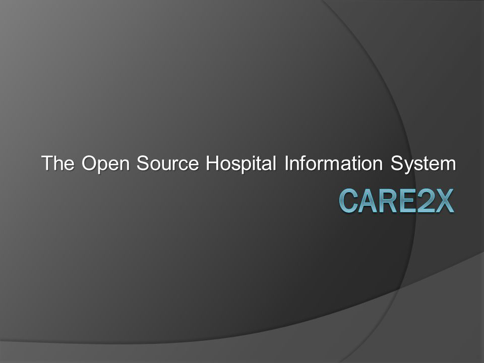 The Open Source Hospital Information System