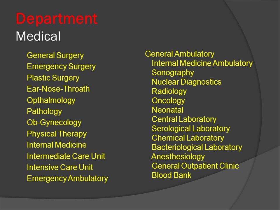 Department Medical General Ambulatory