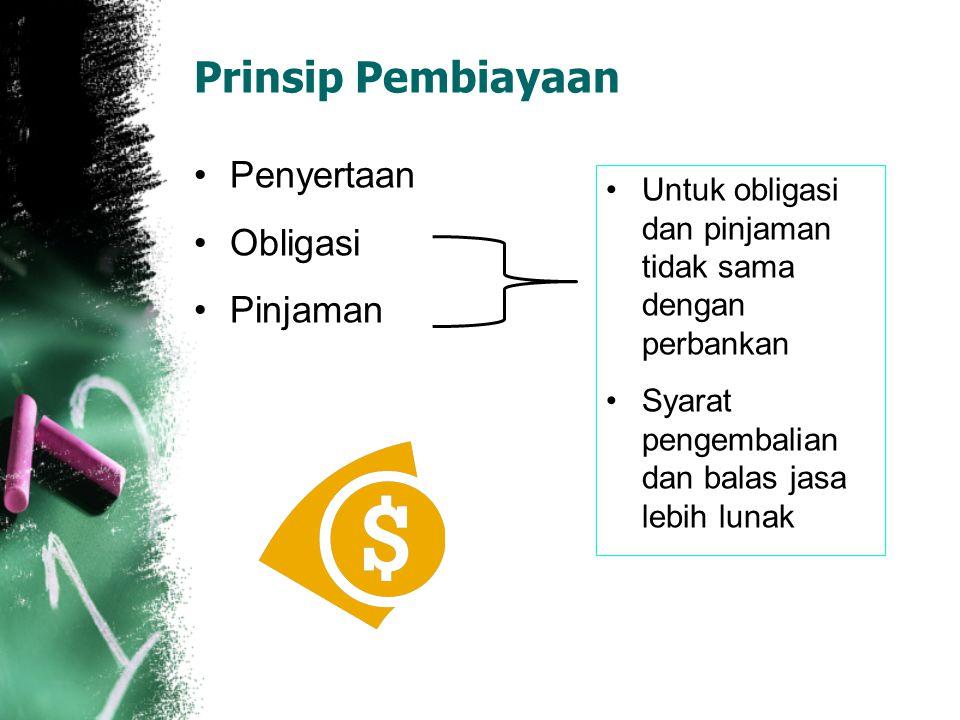 Prinsip Pembiayaan Penyertaan Obligasi Pinjaman