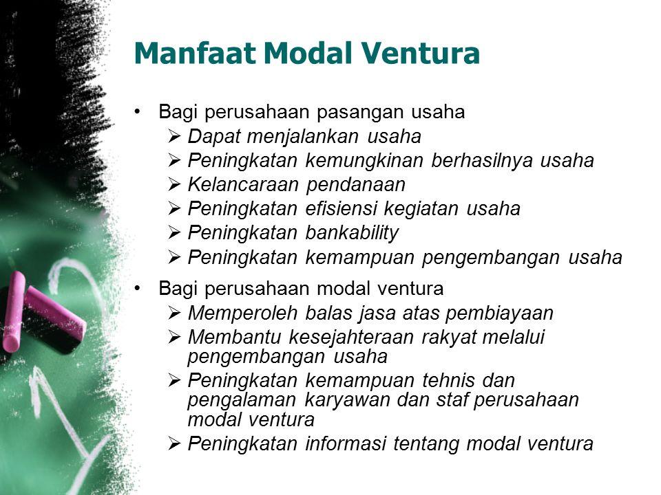 Manfaat Modal Ventura Bagi perusahaan pasangan usaha