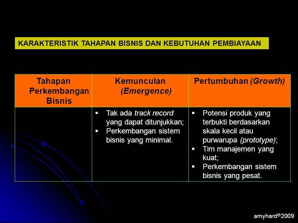 Tahapan Perkembangan Bisnis Kemunculan (Emergence)