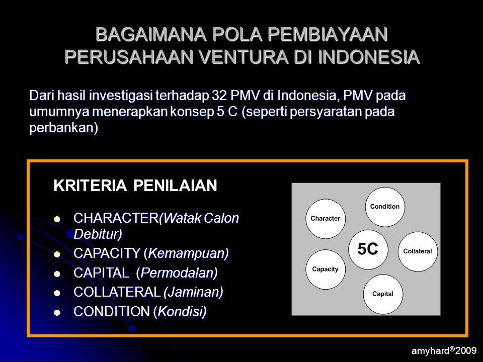 BAGAIMANA POLA PEMBIAYAAN PERUSAHAAN VENTURA DI INDONESIA