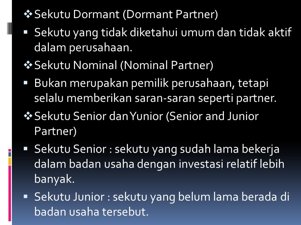Sekutu Dormant (Dormant Partner)