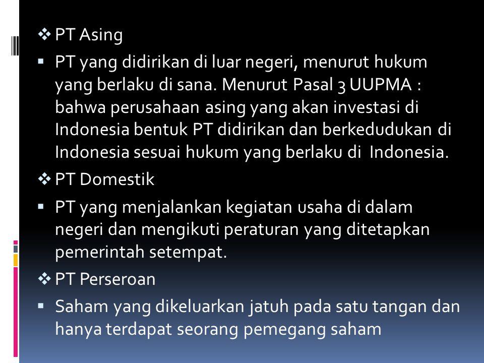 PT Asing