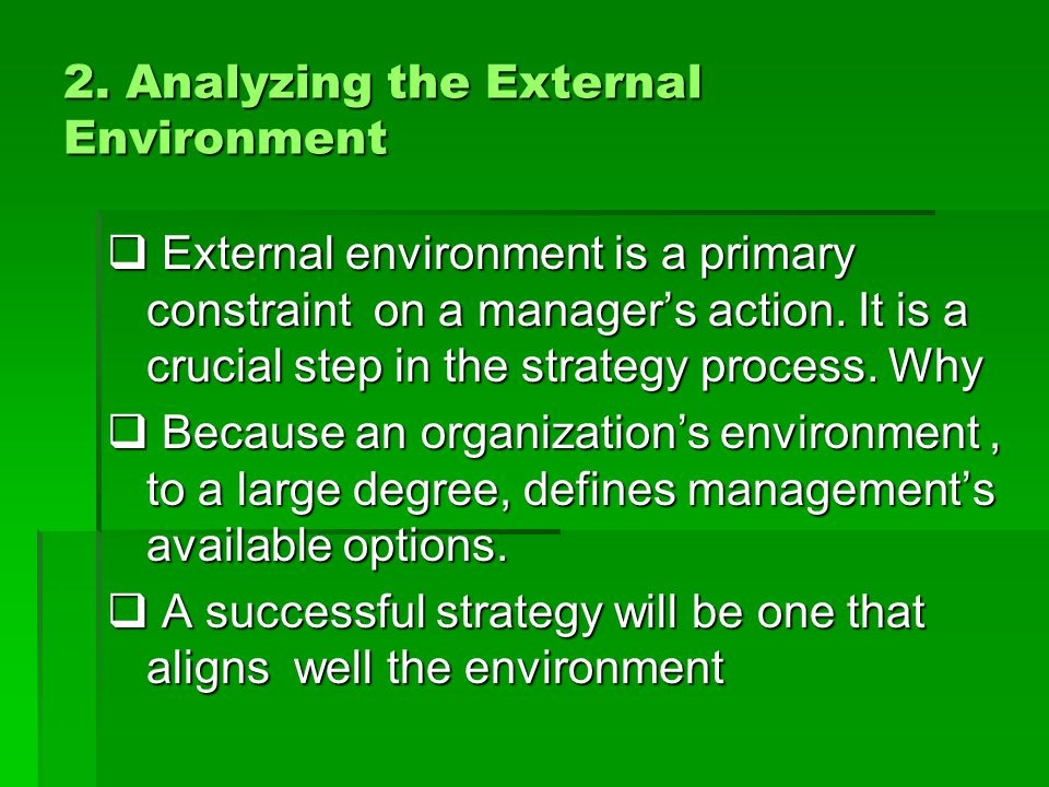 2. Analyzing the External Environment