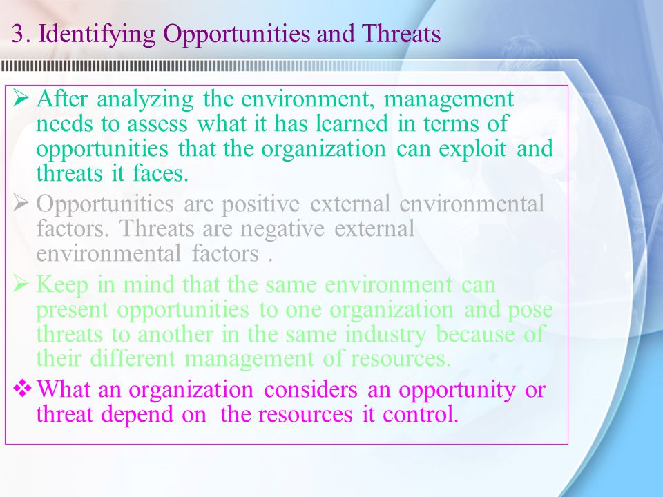 3. Identifying Opportunities and Threats