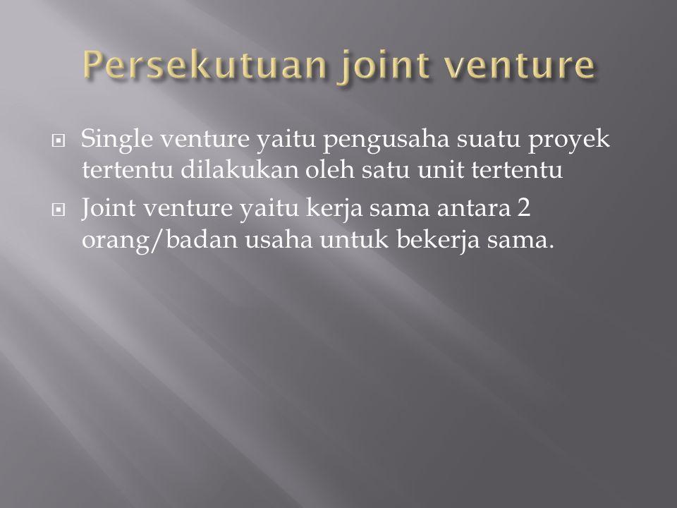 Persekutuan joint venture