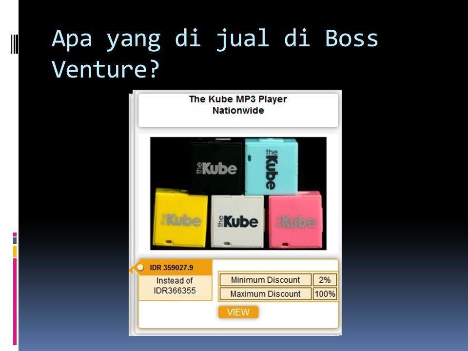 Apa yang di jual di Boss Venture