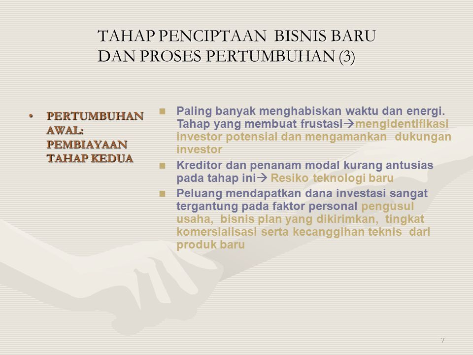 TAHAP PENCIPTAAN BISNIS BARU DAN PROSES PERTUMBUHAN (3)