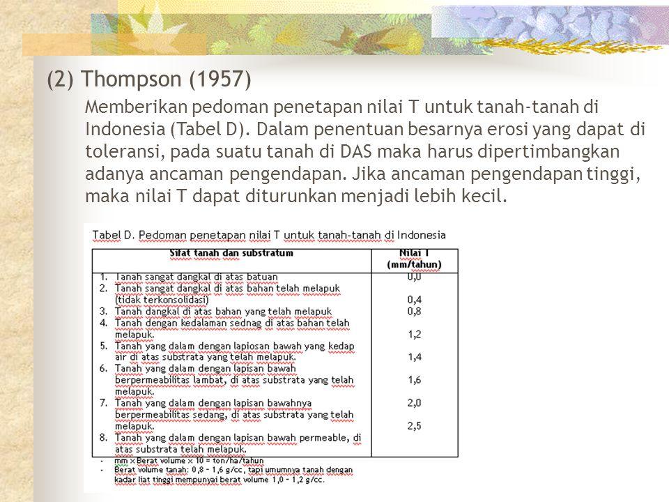 (2) Thompson (1957)