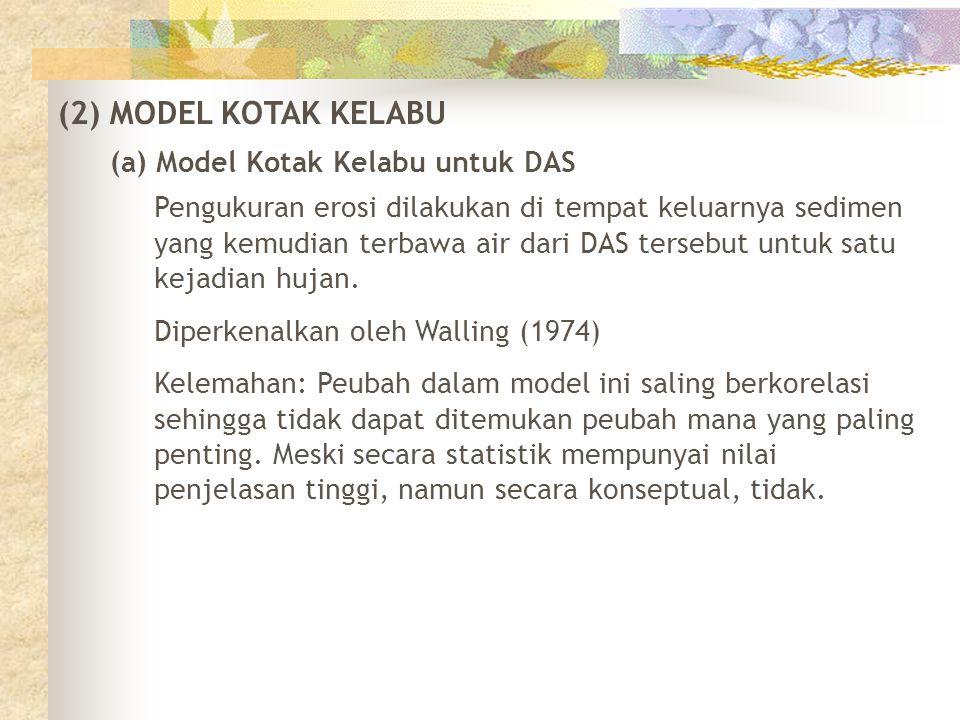 (2) MODEL KOTAK KELABU (a) Model Kotak Kelabu untuk DAS