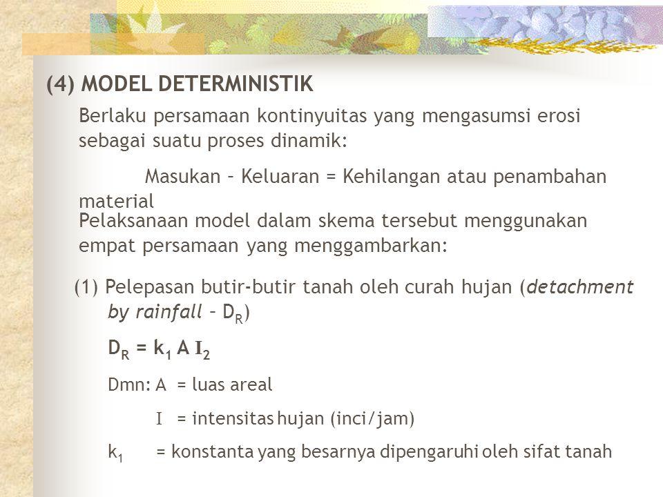 (4) MODEL DETERMINISTIK