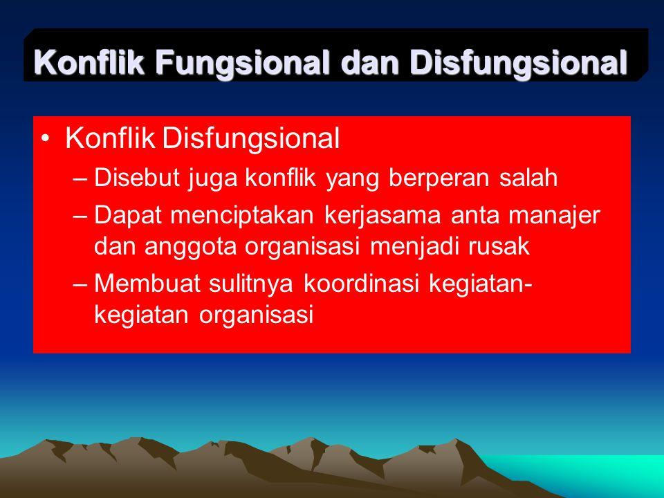 Konflik Fungsional dan Disfungsional