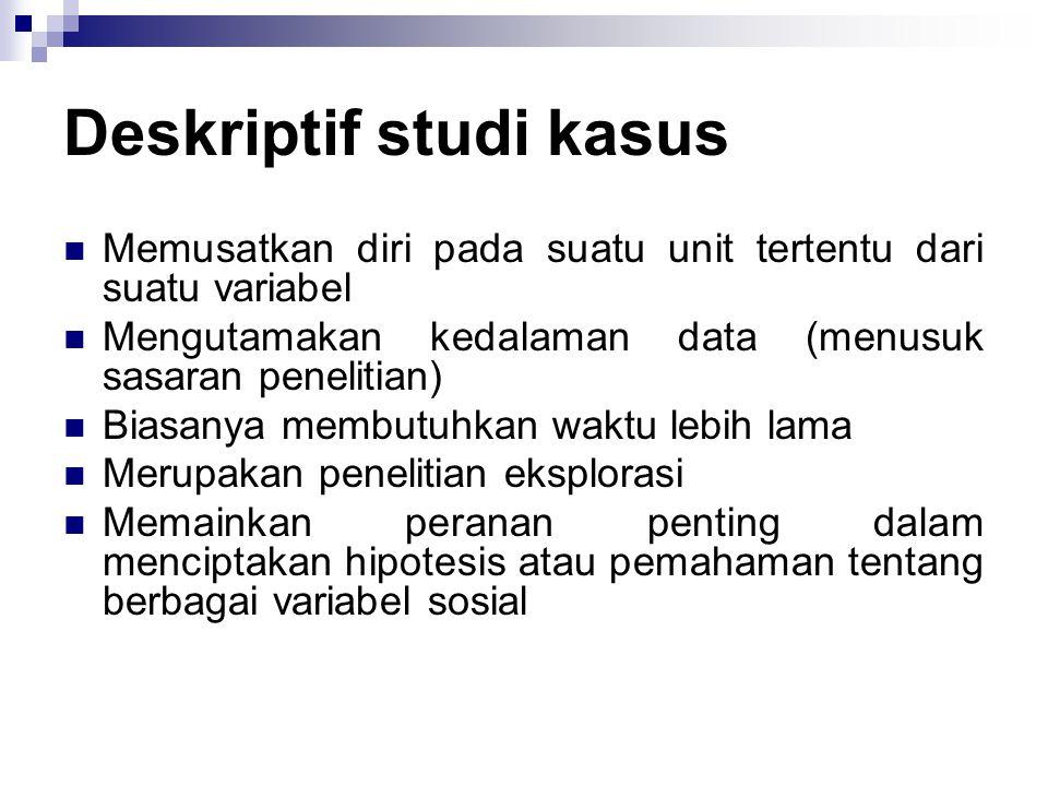 Deskriptif studi kasus