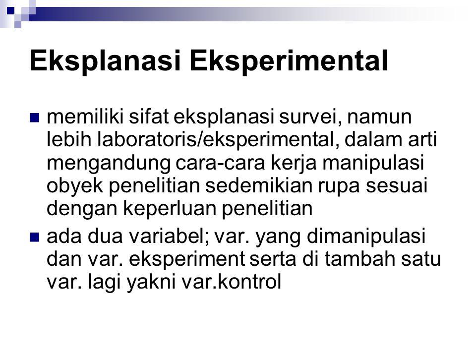 Eksplanasi Eksperimental
