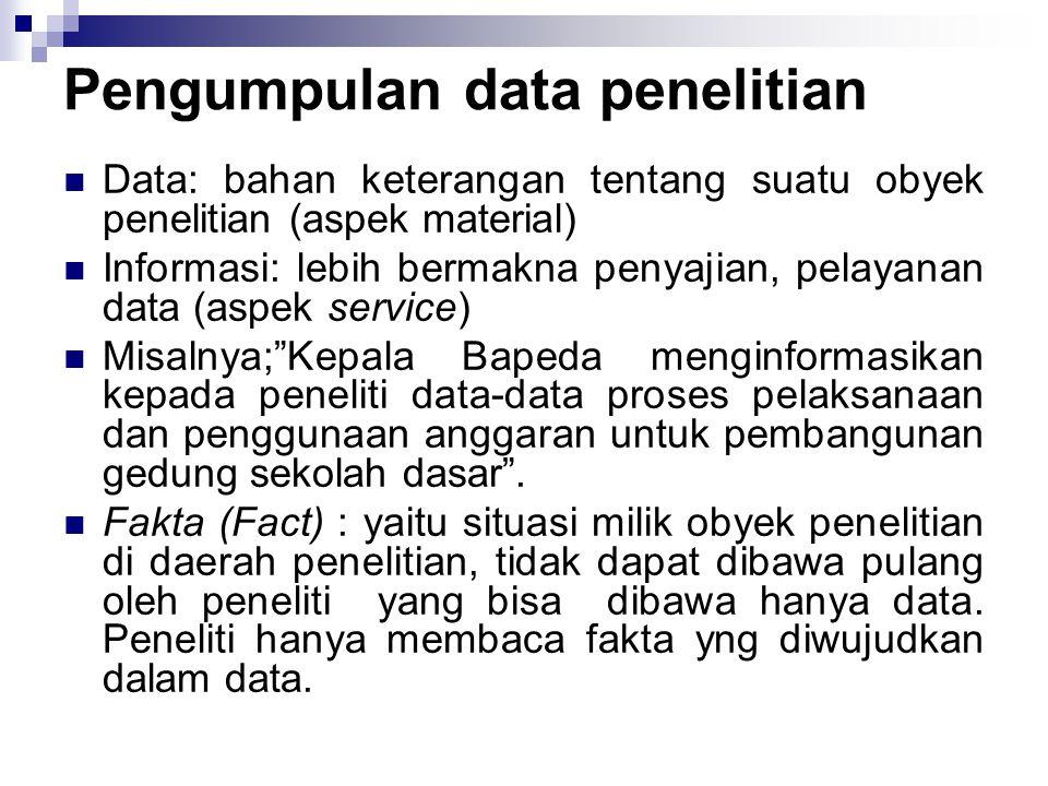 Pengumpulan data penelitian
