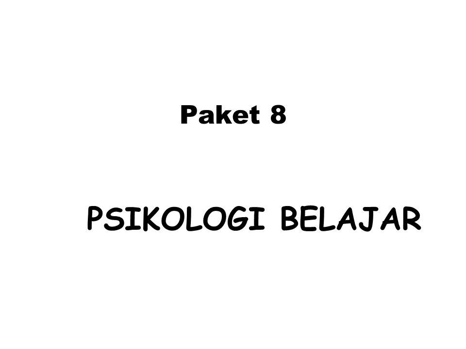 Paket 8 PSIKOLOGI BELAJAR