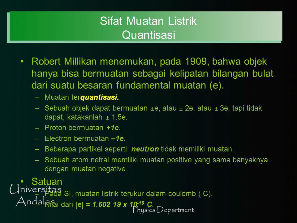 Sifat Muatan Listrik Quantisasi