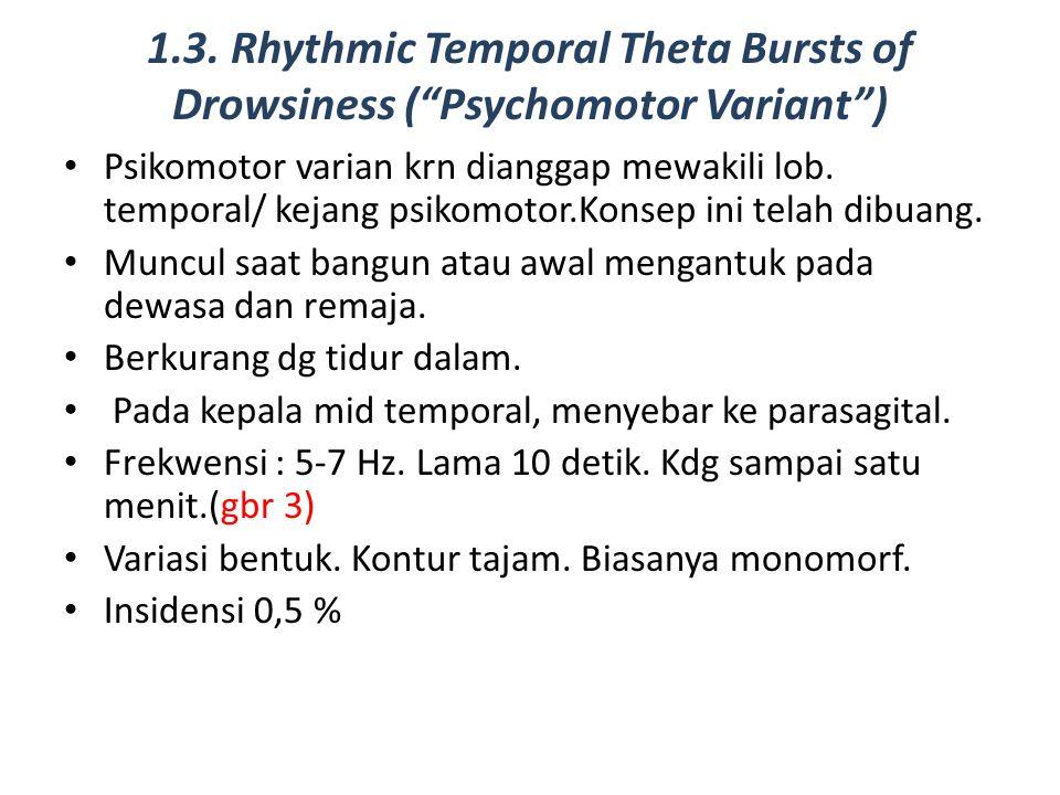 1.3. Rhythmic Temporal Theta Bursts of Drowsiness ( Psychomotor Variant )