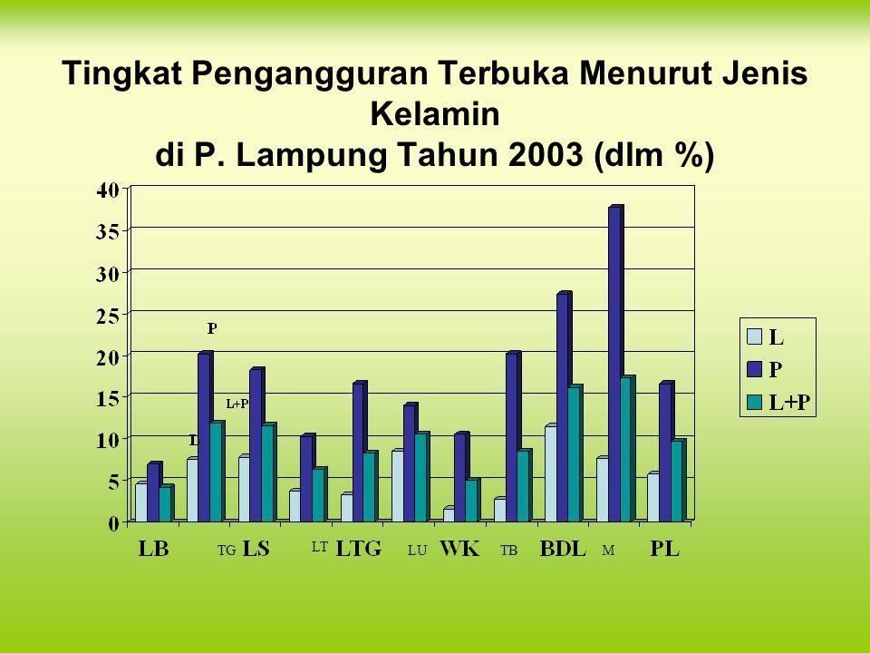 Tingkat Pengangguran Terbuka Menurut Jenis Kelamin di P