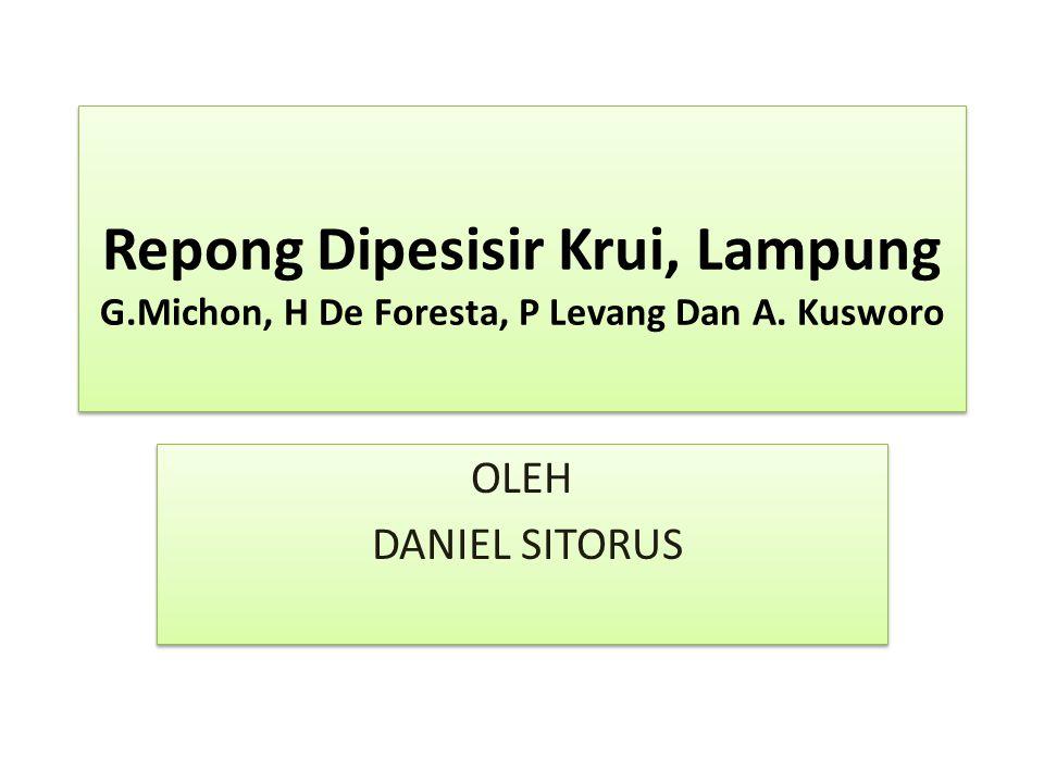 Repong Dipesisir Krui, Lampung G. Michon, H De Foresta, P Levang Dan A