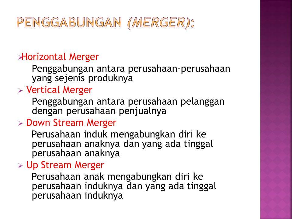 penggabungan (Merger):